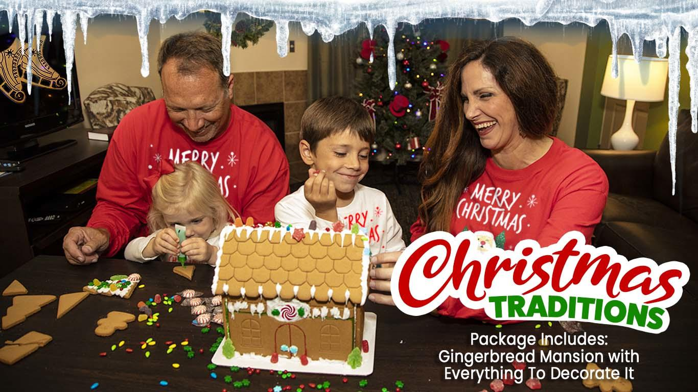Offer includes gingerbread decorating kit.