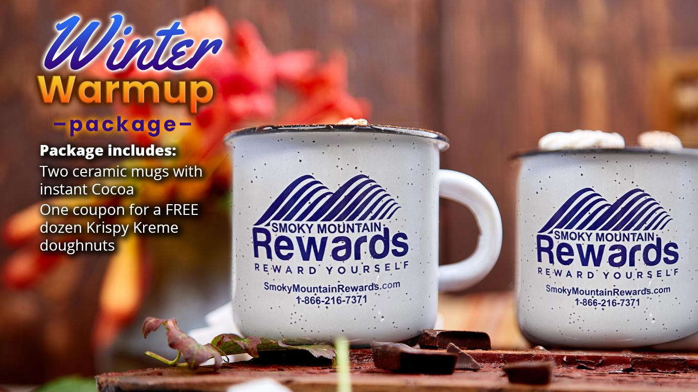 Hot cocoa package for Smoky Mountain getaway